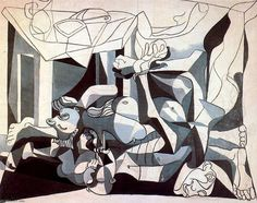 Picasso Neoclassicist & Surrealist Period - The Charnel House. The mass grave 1945 in high definition on Pablo Picasso, Kunst Picasso, Art Picasso, Picasso Paintings, Picasso Drawing, Henri Rousseau, Henri Matisse, Action Painting, Painting & Drawing