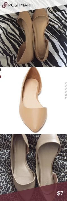 Taupe Flats Taupe Flats Shoes. Size 8. Worn Twice. One has scratch & light black mark on it. Because of that shoe it will be priced lower than attended. NO Trades Forever 21 Shoes Flats & Loafers