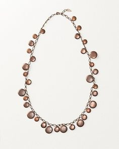 Copper Flutter Disc Necklace