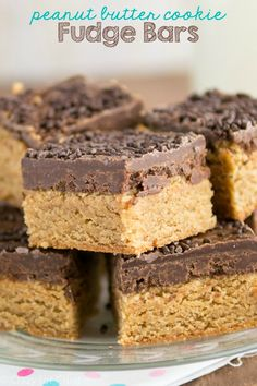 Peanut Butter Cookie Fudge Bars