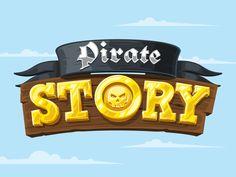 Pirate Story Logotype by Alex Ricochet, on dribbble