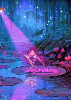 wallpaper the princess and the frog, frog, tiana, cartoon Disney Magic, Disney Pixar, Disney Cartoons, Disney Amor, Film Disney, Disney Animation, Disney And Dreamworks, Disney Love, Cartoon Wallpaper