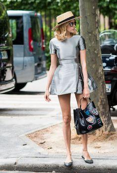 mini silver dress