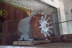 Abandoned Industrial Tower in Omaha Nebraska