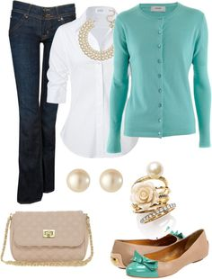 """""""Mint & Pearls"""" by vintagesparkles78 on Polyvore"""
