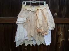 Upcycled Clothing / Vintage lace and linen by CuriousOrangeCat, $95.00