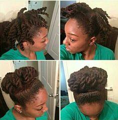 Phenomenal Beautiful Updo And Natural Hair On Pinterest Short Hairstyles For Black Women Fulllsitofus