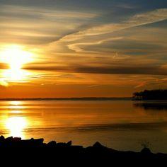 Sunrise on Lake Winnebago in Oshkosh WI.  Lisa Riley