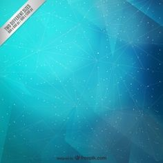Abstract cyan polygonal background