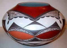 Yvonne Lucas Hopi Laguna Pueblo Native American Indian. Hand Coiled Pottery.