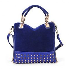 $11.95 Fashion Women's Tote Bag With Rivets and Chains Design