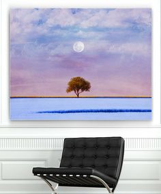 Look at this Garbo Peng Lavender Landscape Wrapped Canvas on #zulily today!