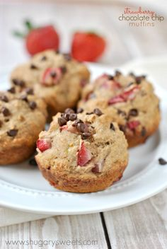 Strawberry Chocolate Chip Muffins....I may be making them for breakfast sometime this week.