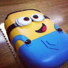 Minion cake made by yours truly!   Kelsea Loomis