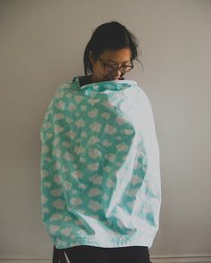 organic cotton nursing cover clouds pattern by lilsoak on Etsy