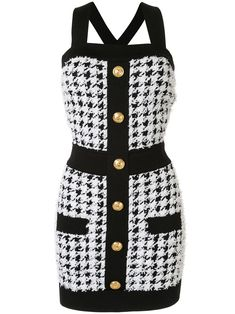 Check out Balmain with over 2 items in stock. Shop Balmain pied de poule dress with buttons today with fast Australia delivery and free returns. Kpop Fashion Outfits, Stage Outfits, Girl Fashion, Womens Fashion, Classy Outfits, Cute Outfits, Balmain Dress, Looks Chic, White Mini Dress