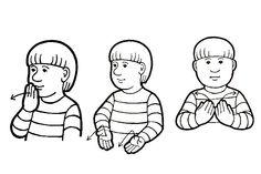 School Signs, Sign Language, Crochet, Fictional Characters, Ganchillo, Fantasy Characters, Crocheting, Knits, Chrochet