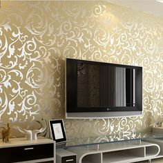 Simple European buttercup broom leaf embossed wallpaper waterproof bedroom living room TV backdrop wallpaper wholesale