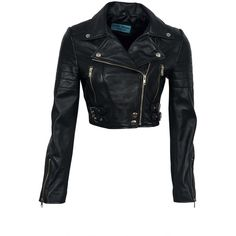 Missy Ladies Short Fashion Fitted Black Biker Soft Napa Goth Leather... (2.250 ARS) ❤ liked on Polyvore featuring outerwear, jackets, gothic jackets, leather jackets, leather biker jacket, gothic leather jacket and biker style jacket
