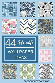 Want to try some wallpaper, but don't want to commit?  Try Removable Wallpaper For Sale, Navy Wallpaper, Trellis Wallpaper, Butterfly Wallpaper, Room Wallpaper, Wallpaper Ideas, Pineapple Wallpaper, Girl Bathrooms, Wall Tiles Design