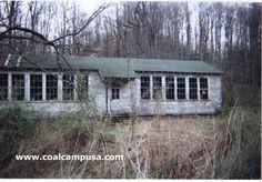 Coal mine camp schoolhouse in West Virginia.