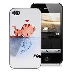 Cute Lovely Cat Hard Case Cover for iPhone 4 and iPhone , iPhone cases Iphone 4 Cases, Iphone 4s, Cheap Iphones, Smartphone, Cover, Cat, Free Shipping, Phone Accessories, Heaven