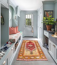 I'm not sure I would ever leave my mudroom. Isn't it beautiful? Design: I'm not sure I would ever leave my mudroom. Isn't it beautiful? Home Interior, Interior Styling, Interior Design, Design Studio, House Design, Pantry Inspiration, Design Inspiration, Design Ideas, Style Me Pretty Living