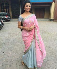 HYM -  Ishita in pink saree