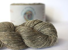 Spinning Yarns Weaving Tales - Tirchonaill 523 Lt Olive Grey 100% Merino Laceweight for Knitting, Crochet, Warp & Weft