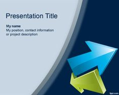 This free Arrow PowerPoint template is a free template with curve effects and arrows in different colors