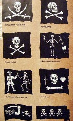 famous pirate's flags: