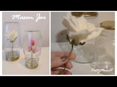 DIY  Fiori in barattolo  / Mason jar