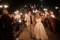 Sparkler send-off after a wedding at the Baltimore Yacht Club. Captured by Baltimore wedding photographer Ben Lau.