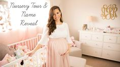 {Baby Girl Nursery Tour & Name Reveal | Hayley Paige}I absolutely love this nursery when I have a baby I want her nursery to look like this <3