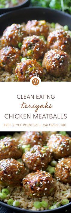 Clean Eating Teriyaki Chicken Meatballs