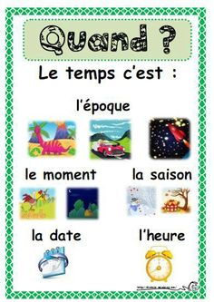 .quand? French Education, Education And Literacy, French Teacher, Teaching French, French Expressions, Core French, French Classroom, French School, French Immersion