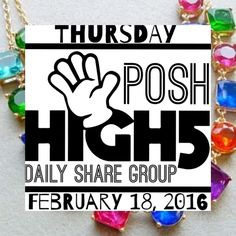 Thursday 2/18 ✋POSH HIGH FIVE✋ Share Group LMK IF YOU NEED TO BE ADDED TO MY TAG LIST PLEASE!! ✨✋ POSH HIGH FIVE ✋✨ SHARE GROUP!  ‼️POSH COMPLIANT CLOSETS ONLY PLEASE‼️ To sign up, tag your closet name and what # spot you are on the list (i.e. @redoyou #8)...share 5 items, 5x each from each closet signed up for that day (25 shares/closet)...when you're finished, please sign out with your # for that day...FINAL LISTS MAY OR MAY NOT BE POSTED...I'll do my best to get one out though  Now let's…