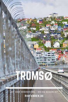 Reisetipp Norwegen: Stadtbesuch Tromsø, Tor zur Arktis in Nordnorwegen. Tipps für einen Tag in Tromsoe mit Essen gehen, Stadtbummel, Polarmuseum, Polarforschern, Eismeerkathedrale, Hafen & Campingplatz. Informationen Sehenswürdigkeiten & günstig übernachten. Erfahre mehr zu Roald Amundsen & Eroberung Nordpol & Südpol. Besuch der Stadt mit Hurtigruten oder Wohnmobil, nicht verpassen! #Wohnmobil #Norwegen #Stadtbesuch #Museum #Tromsø #Campingplatz #Tromsoe