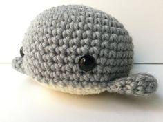 Amigurumi Crochet Pearl Gray Whale Plush Toy Kawaii Plush Whale Nursery Decor Gift Under 25 Whale Pl