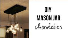 DIY Mason Jar Chandelier -- Create this beauty for less than $100.....