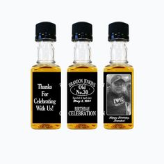 Custom Jack Daniels Mini Bottle Labels for Birthday Parties by LiquidCourage