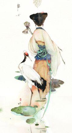 画船撑入花...来自泪洒潇湘馆的图片分享-堆糖