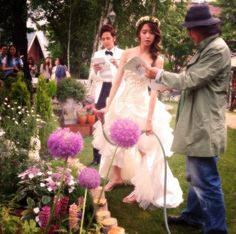 Jang Geun suk and Im Yoona Im Yoona, Flower Girl Dresses, Prom Dresses, Formal Dresses, Wedding Dresses, Love Rain, Singer, Actresses