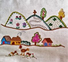 Naive simplicity - really nice.  Embroidery ideas