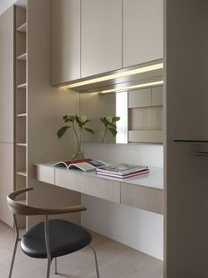 Interior Designs a Contemporary Apartment in Taipei - Light and Shadows by C. Interior The Effective Pictures We Offer You About home decor diy A - Home Office Design, Home Office Decor, Home Interior Design, House Design, Home Decor, Study Table Designs, Study Room Design, Kids Study Table Ideas, Study Tables