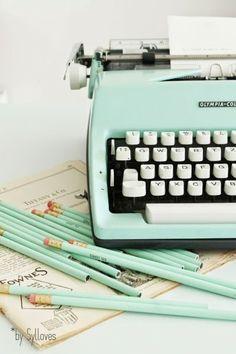 La bonne vieille machine à écrire de ma maman !