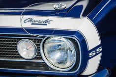 1968 Chevrolet Yenko Super Camaro Ss Hood Emblem - Car Images by Jill Reger
