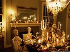 skeletons having a party, love this!