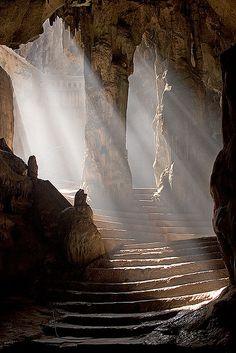 Cavern stairs the bat cave.... Batman's lair????