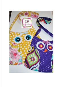 pdf Owl Tote Bag Sewing Pattern NEW by LittleStitchers on Etsy, $7.00